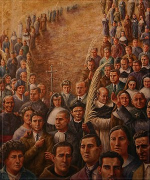Pintura de los Beatos mártires valencianos del siglo XX. Catedral de Valencia, España.