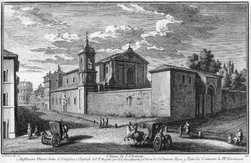 Grabado antiguo de la basílica romana.