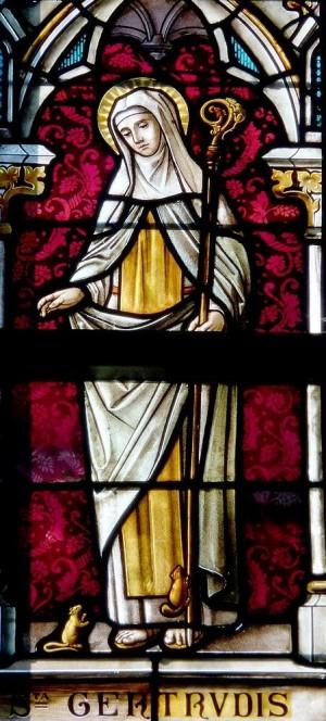 Vidriera de la Santa en la catedral de Limburg, Bélgica. Fotografía: G. Freihalter.