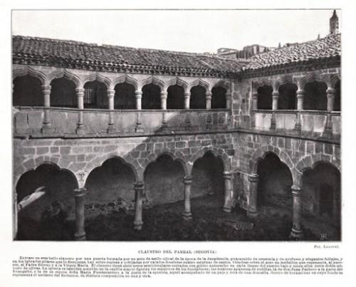 Claustro del monasterio de El Parral, Segovia (España), donde vivió el Beato.
