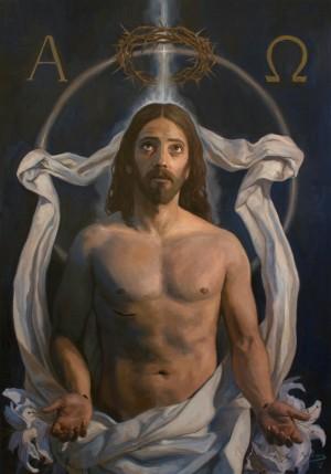 Cristo resucitado. Óleo sobre lienzo de Raúl Berzosa (2012). Fuente: www.raulberzosa.com/