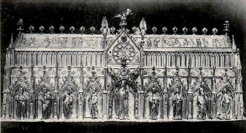 Antiguo relicario de la Santa, que fue destruido.