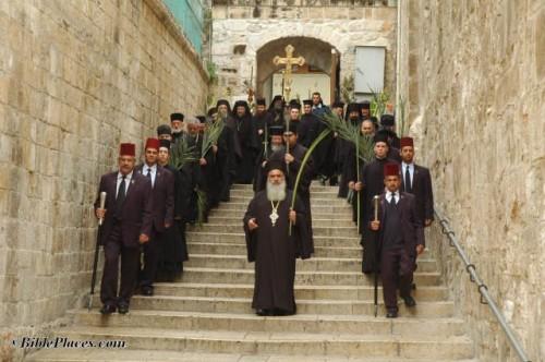 Procesión de las Palmas en Jerusalén.