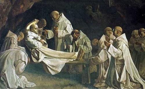 Muerte del Santo. Lienzo de C. Zimatore y D. Grillo (s.XX).