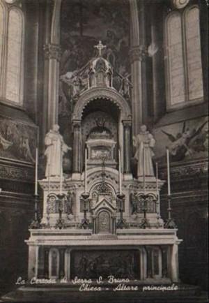 Reliquias de San Bruno en la Cartuja de Serra (Italia).