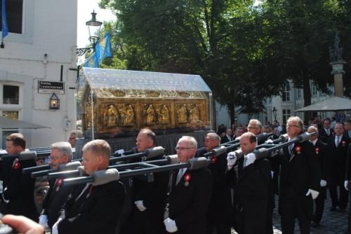 Procesión de las reliquias cada siete años.