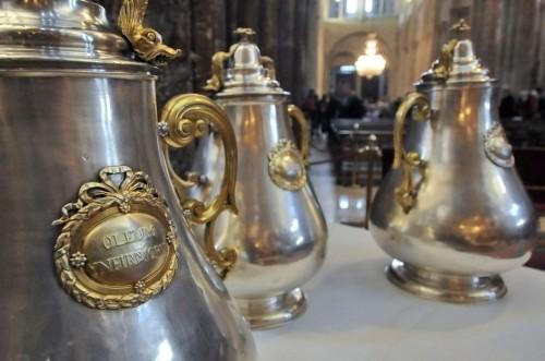 Vasijas de los santos óleos. Catedral de Compostela, España.