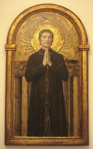 Pintura del Santo en la Casa Madre de las Misiones Extranjeras en París, Francia.