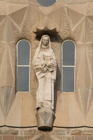 Escultura de Francisco Carulla en la Sagrada Familia de Barcelona (España).