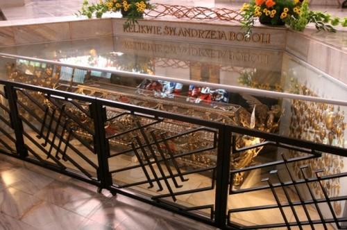 Vista actual de la urna del Santo.
