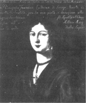 Lienzo de la Venerable Francisca Catalina de Saboya.