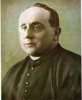 Fotografía coloreada del Siervo de Dios.