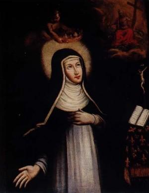 Lienzo de la Beata Margarita de Saboya, religiosa dominica.