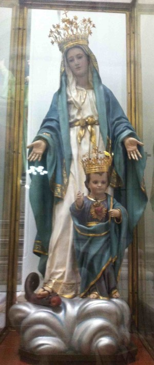Imagen que se veneraba en la iglesia de la Merced de Guadalajara, México. Actualmente arrinconada.