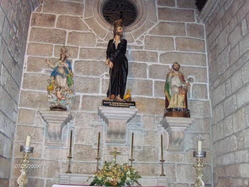 Imagen del beato Francisco Pacheco en la iglesia de Santa María dos Anjos.