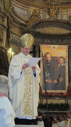 Ceremonia de la beatificación.