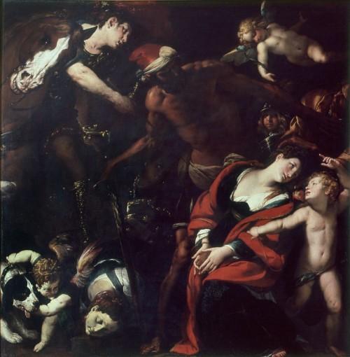 Martirio de las Santas. Lienzo de Giovanni Battista Crespi. Museo Diocesano de Cerano, Italia.