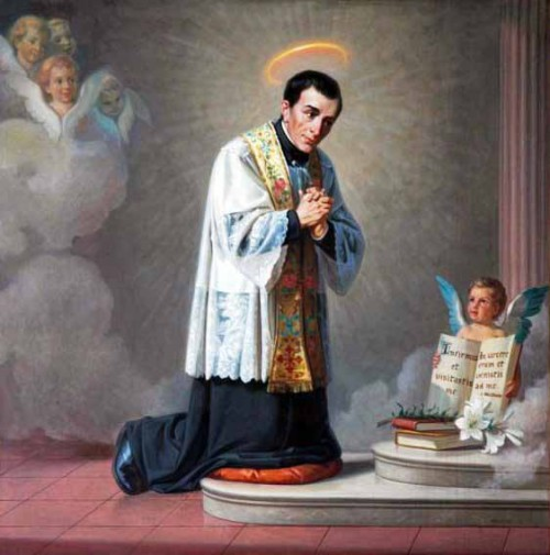 Lienzo del Santo en el Oratorio de San Francisco de Sales, Turín (Italia).