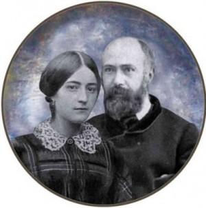Fotomontaje con los retratos de los esposos, realizado para su beatificación.