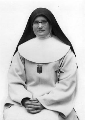 Fotografía de la Beata tomada en 1926, después de la imposición del crucifijo de misionera.