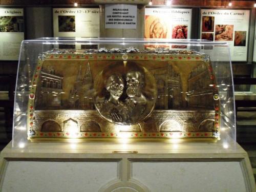 Detalle del relicario de los Beatos.