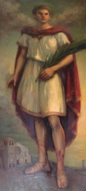 Lienzo del Santo, obra de W. Falzari. Catedral de Trieste, Italia.