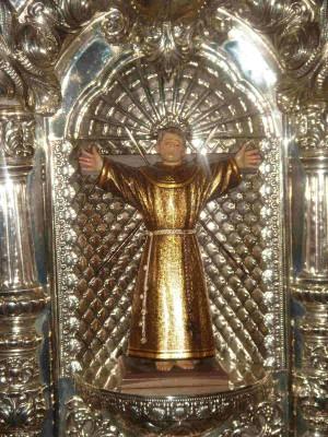 Imagen del Santo en la parroquia de San Lorenzo de Valladolid, España.