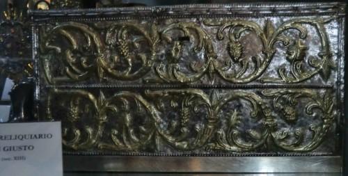 Relicario del Santo en la catedral de Trieste (Italia).