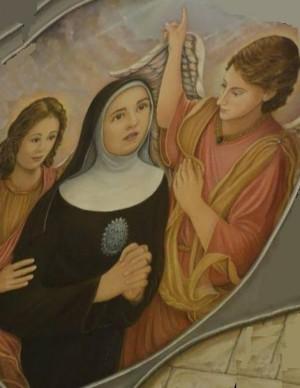 Pintura de la Beata Angélica Leonti de Milazzo. Octubre 2013.