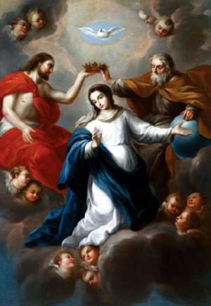 """""""Coronación de la Virgen"""", de Nicolás Rodríguez, Museo Soumaya, Ciudad de México."""