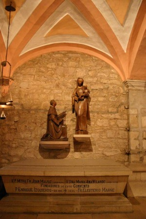 Sepulcro de los beatos  Enrique Izquierdo y Eleuterio Marne. Convento de Las Caldas.