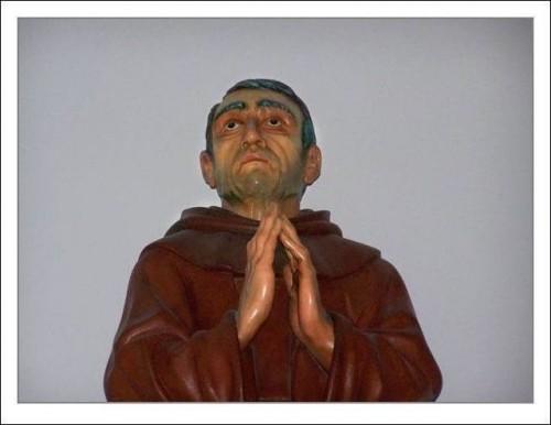 Detalle de la imagen del Beato Gabriel de la Magdalena en Sonseca, Toledo (España).