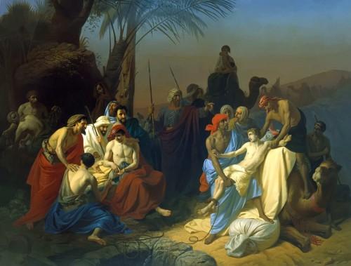 José vendido por sus hermanos. Lienzo de Konstantin Flavitsky, 1855.