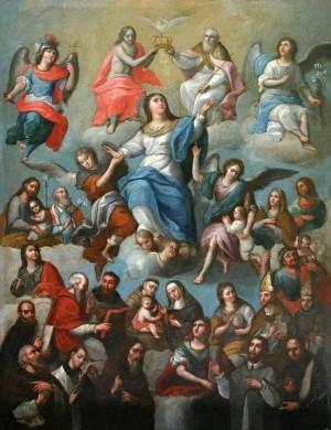 """""""Reina de Todos los Santos"""", autor desconocido, Museo Blastein, cd de México."""