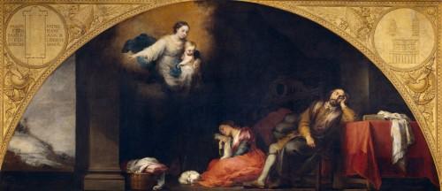 """""""El sueño del patricio"""", lienzo de Bartolomé Esteban Murillo. Museo Nacional del Prado, Madrid (España)."""
