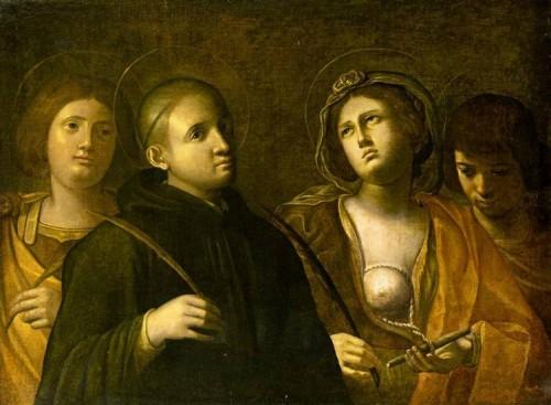 Lienzo barroco de los Santos.