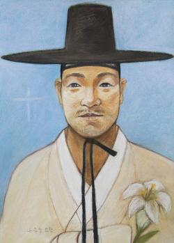 Ilustración del Beato Juan Yu Jung-cheol.