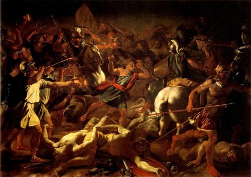 Victoria de Gedeón sobre los madianitas. Lienzo de Nicolás Poussin.