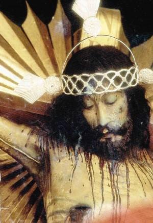 Detalle del busto de la venerada imagen.