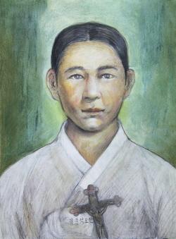 Ilustración del Beato Juan Yu Mun-seok.