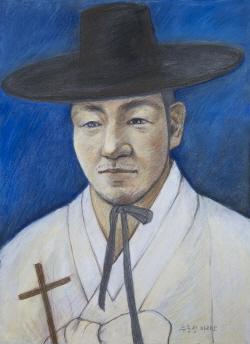Ilustración del Beato Mateo Yu Jung-seong.