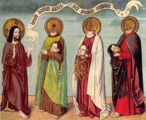 Los Santos se presentan ante Cristo. Tabla de 1506, Museo Nacional de Suiza, Zurich (Suiza).