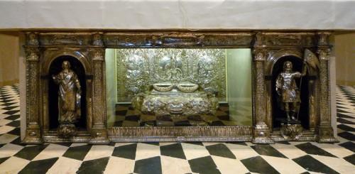 Sepulcro del Santo en la catedral de Bérgamo, Italia.