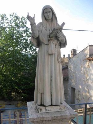 Imagen de la Santa en Amelia, Umbría (Italia).