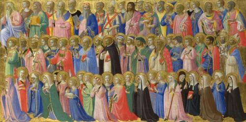 Gloria de Todos los Santos. Predela de la Pala de Fiésole, obra de Fra Angelico.