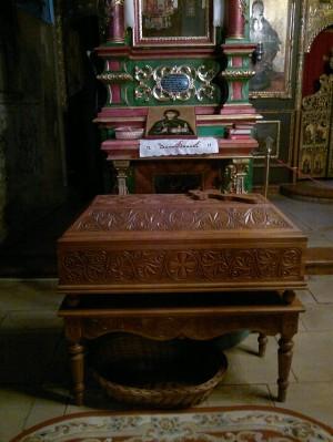 Urna con las reliquias de Santa Angelina Branković. Monasterio Krusedol, Serbia.