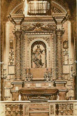 Capilla-sepulcro de la Santa. Catedral de Santa Maria Assunta, Sutri (Italia).