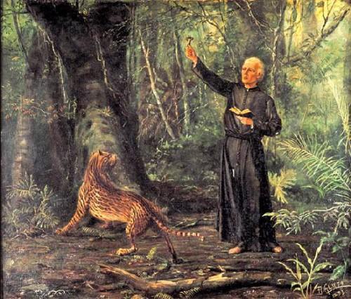 Ilustración contemporánea de San José de Anchieta.