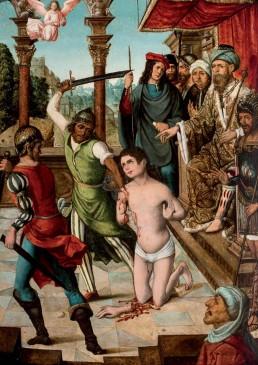 Martirio del Santo. Tabla del Maestro de Becerril.