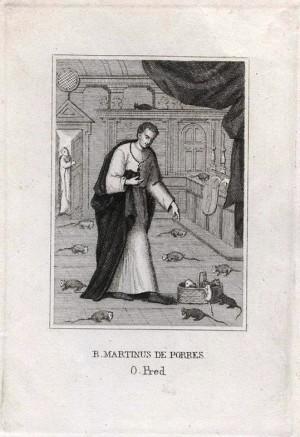 Grabado de San Martín de Porres.